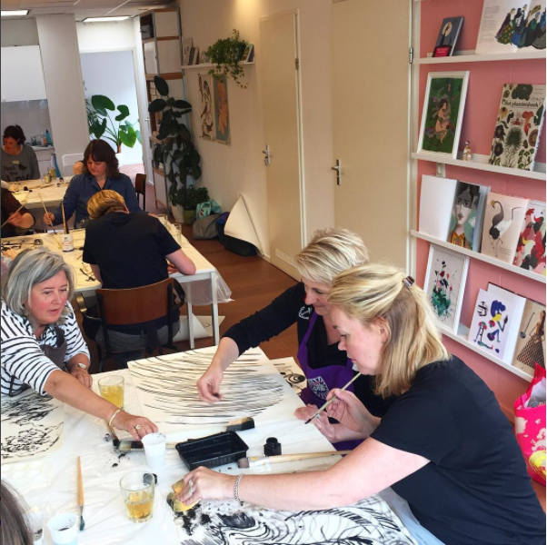 Femke Veltkamp illustratie reisgids tekenen schilderen Utrecht creatief illustreren creatieve coaching workshop coach