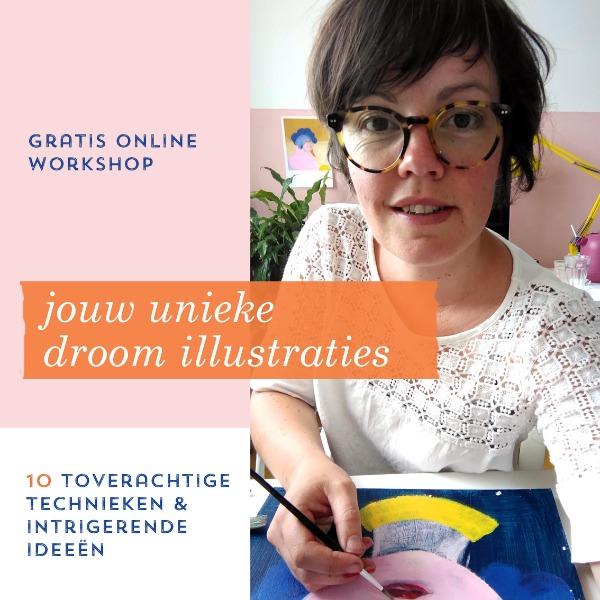online workshop unieke droomillustraties