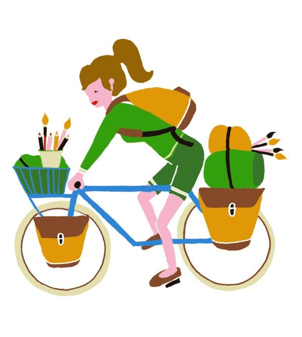 illustratie expeditie fiets